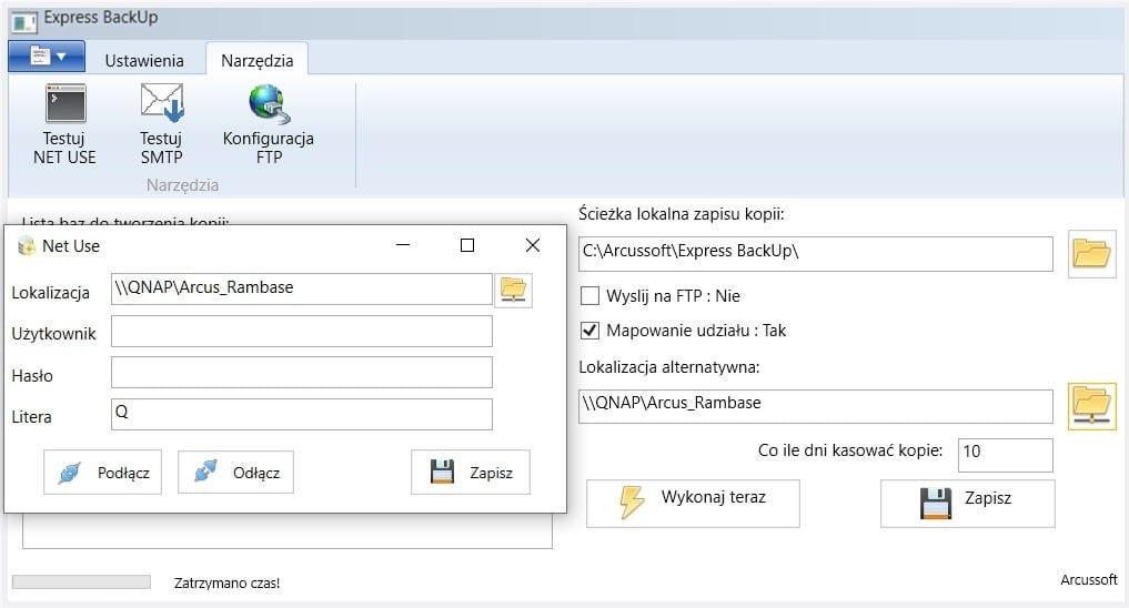 PROGRAM DO KOPII BEZPIECZEŃSTWA BAZ SQL