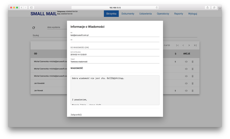 Zarządzanie jedną skrzynką pocztową